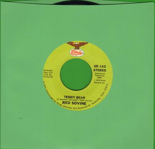 Sovine, Red - Teddy Bear (Spoken Words TEAR JERKER)/Daddy  - VG7/ - 45 rpm Records