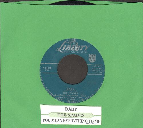 Spades - Baby/You Mean Everything To Me (with juke box label) - EX8/ - 45 rpm Records
