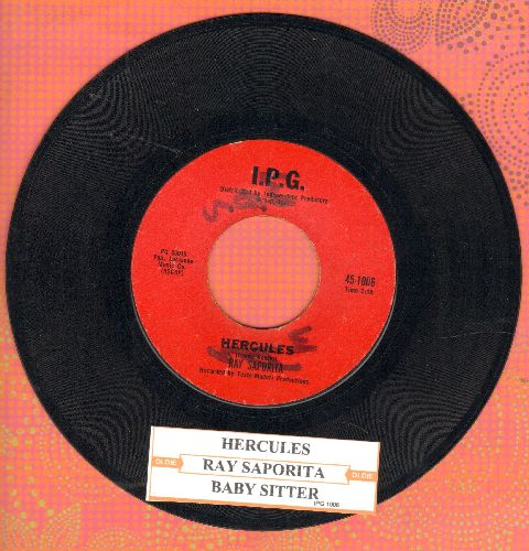 Saporita, Ray - Hercules/Baby Sitter (RARE Vintage Teen Idol 2-Sider with juke box label)(wol) - EX8/ - 45 rpm Records