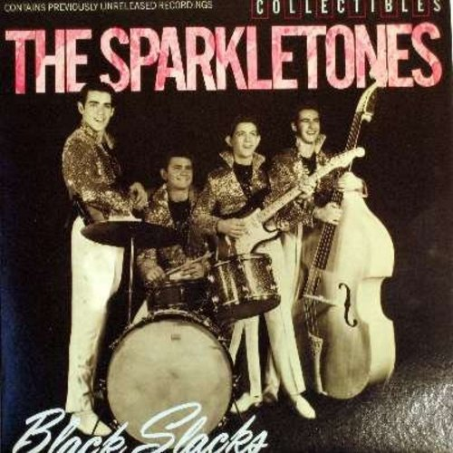 Sparkletones - Black Slacks: Penny Loafers And Bobby Socks, Rocket, Let's Go Rock And Roll, Cotton Pickin' Rocker, Maybe Baby, Late Again, I Dig You Baby (Vinyl LP record, re-issue of vintage Rock & Roll recordings) - NM9/EX8 - LP Records
