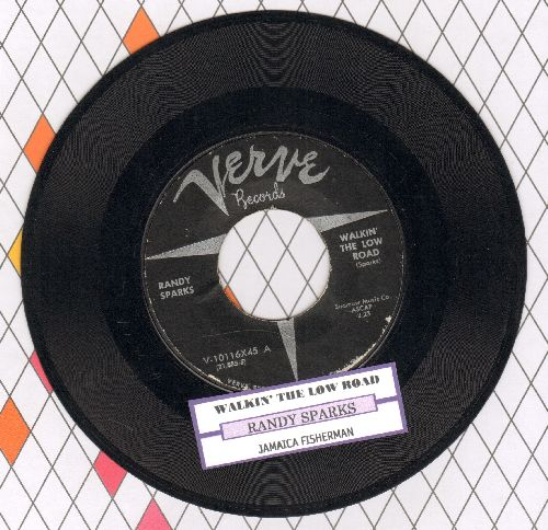 Sparks, Randy - Walkin' The Low Road/Jamaica Fisherman (with juke box label) - NM9/ - 45 rpm Records
