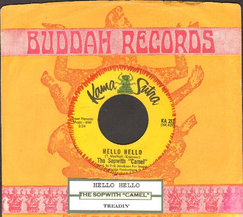 Sopwith Camel - Hello Hello/Treadin' (with juke box label and company sleeve) - EX8/ - 45 rpm Records