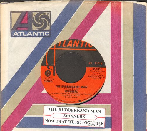Spinners - Rubberband Man/Now That We're Together (with Atlantic company sleeve and juke box label) - NM9/ - 45 rpm Records