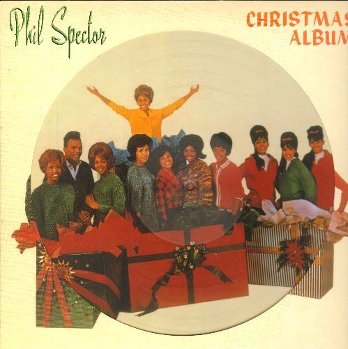 Love, Darlene, Crystals, Ronettes, Bob B. Sox & The Blue Jeans - Phil Specotr - A Christmas Gift For You: White Christmas, Frosty The Snowman, I Saw Mommy Kissing Santa Claus, Sleigh Ride (12 inch vinyl Picture Disc, 2015 EU Pressing) - NM9/ - LP Records