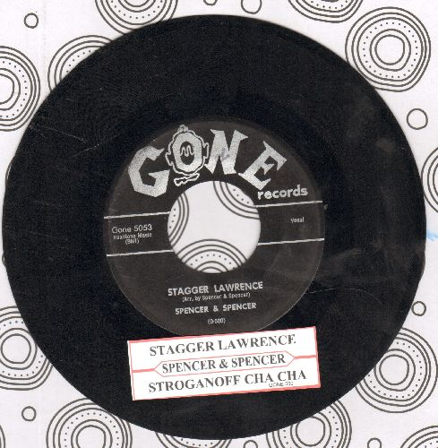 Spencer & Spencer - Stagger Lawrence/Stroganoff Cha Cha (RARE Novelty 2-sider with juke box label) - VG7/ - 45 rpm Records