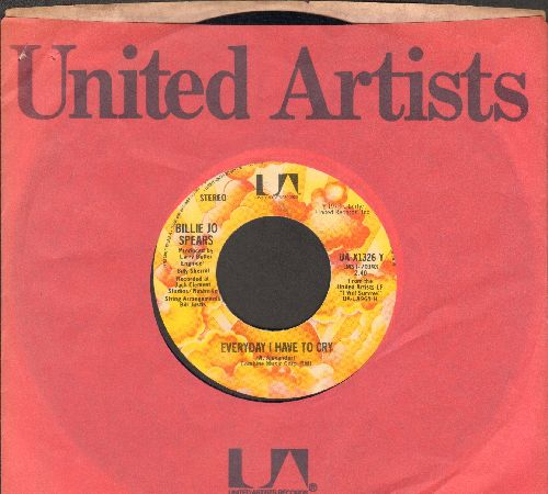 Spears, Billie Jo - Everyday I Have To Cry/Rainy Days And Stormy Nights (with United Artists company sleeve) - EX8/ - 45 rpm Records