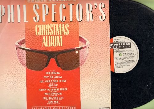 Love, Darlene, Ronettes, Crystals, Bob B. Soxx & The Blue Jeans - Phil Spector's Christmas Album: White Christmas, Frosty The Snowman, Sleigh Ride, Rudolph The Red-Nosed Reindeer (vinyl LP record) - NM9/VG7 - LP Records