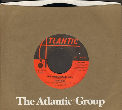 Spinners - Rubberband Man/Now That We're Together (with Atlantic company sleeve) - EX8/ - 45 rpm Records