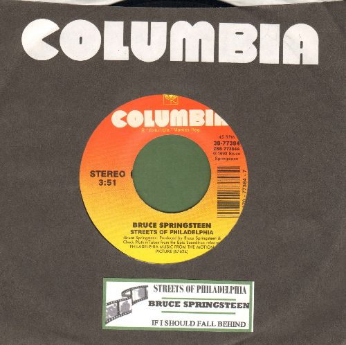 Springsteen, Bruce - Streets Of Philadelphia (Oscar Winner Best Song 1994)/If I Should Fall Behind (with juke box label and Columbia company sleeve) - NM9/ - 45 rpm Records