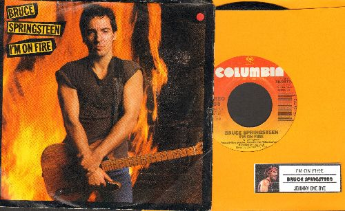 Springsteen, Bruce - I'm On Fire/Johnny Bye Bye (with picture sleeve and juke box label) - NM9/EX8 - 45 rpm Records