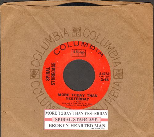 Spiral Starecase - More Today Than Yesterday/Broken-Hearted Man (with juke box label and Columbia company sleeve) - EX8/ - 45 rpm Records