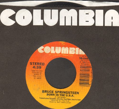 Springsteen, Bruce - Born In The U.S.A./Shut Out The Light (with Columbia company sleeve) - VG7/ - 45 rpm Records