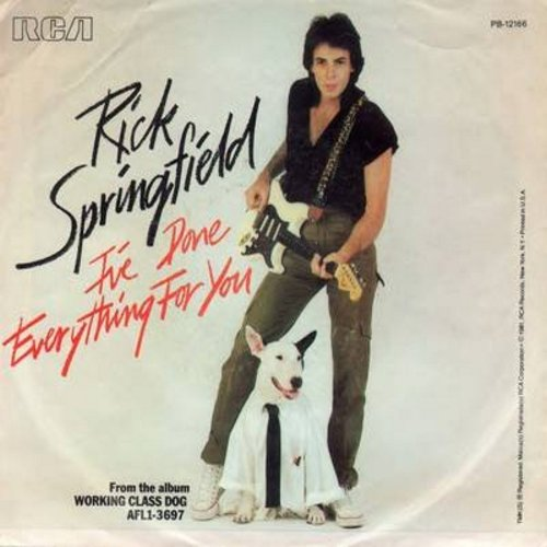 Springfield, Rick - I've Done Everything For You/Red Hot And Blue Love (with picture sleeve) - NM9/EX8 - 45 rpm Records