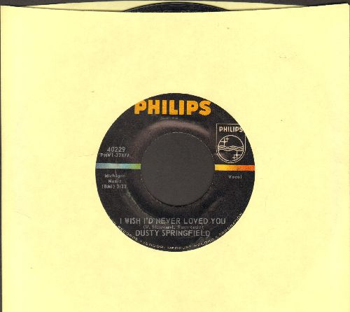 Springfield, Dusty - I Wish I'd Never Loved You/All Cried Out (bb) - EX8/ - 45 rpm Records