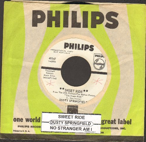 Springfield, Dusty - Sweet Ride/No Stranger Am I (RARE DJ advance pressing with juke box label and Philips company sleeve) - NM9/ - 45 rpm Records