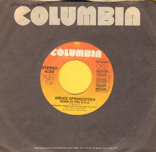 Springsteen, Bruce - Born In The U.S.A./Shut Out The Light (with Columbia company sleeve) - EX8/ - 45 rpm Records