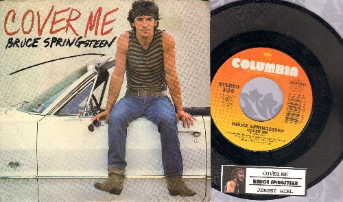 Springsteen, Bruce - Cover Me/Jersey Girl (with picture sleeve and juke box label) - EX8/EX8 - 45 rpm Records