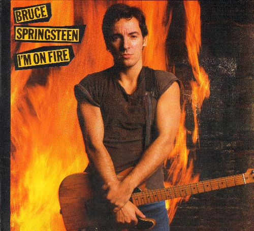 Springsteen, Bruce - I'm On Fire/Johnny Bye Bye (with picture sleeve) - EX8/EX8 - 45 rpm Records