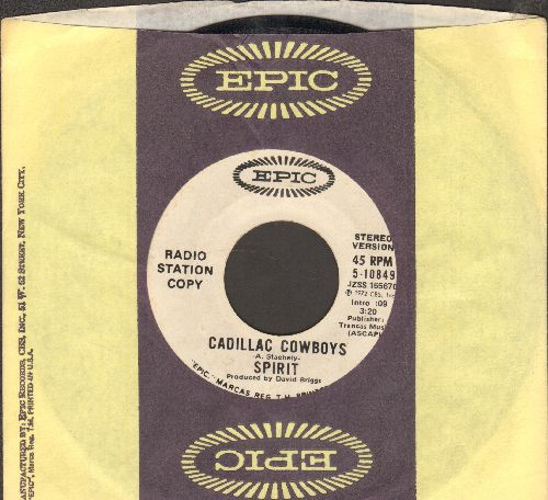 Spirit - Cadillac Cowboys (double-A-sided DJ advance pressing with Epic company sleeve) - EX8/ - 45 rpm Records