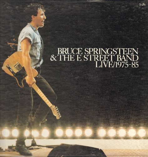 Springsteen, Bruce - Brucew Springsteen & The E Street Band LIVE/1975-85 (Box Set with 5 vinyl STEREO LP records) - NM9/EX8 - LP Records