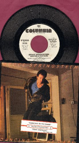 Springsteen, Bruce - Dancing In The Dark (double-A-sided DJ advance pressing with picture sleeve and juke box label) - NM9/EX8 - 45 rpm Records