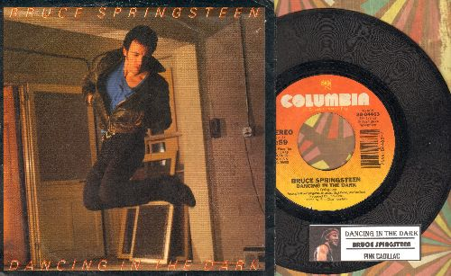 Springsteen, Bruce - Dancing In The Dark (with picture sleeve and juke box label) - EX8/EX8 - 45 rpm Records
