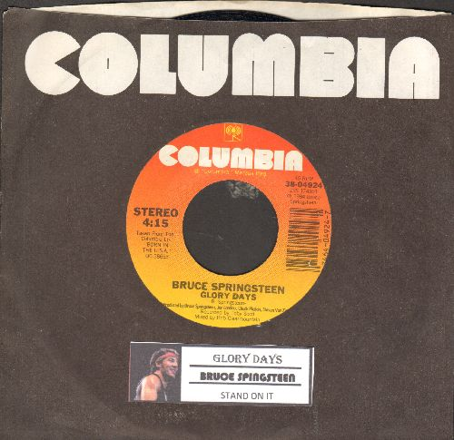 Sprinsteen, Bruce - Glory Days/Stand On It (with juke box label and Columbia company sleeve) - NM9/ - 45 rpm Records