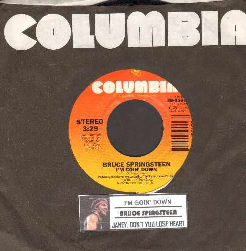 Springsteen, Bruce - I'm Goin' Down/Janey, Dopn't You Lose Heart (with juke box label and Columbia company sleeve) - NM9/ - 45 rpm Records