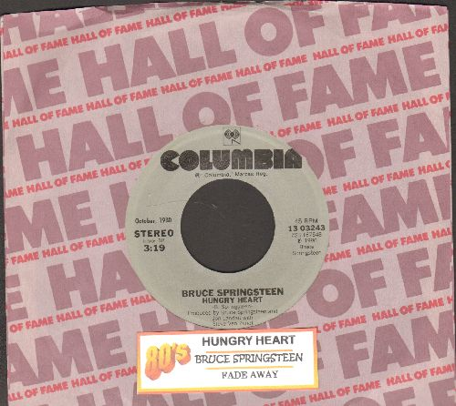 Springsteen, Bruce - Hungry Heart/Fade Away (double-hit re-issue with juke box label and Columbia company sleeve) - NM9/ - 45 rpm Records