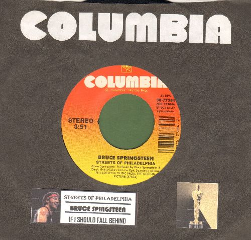 Springsteen, Bruce - Streets Of Philadelphia (Oscar Winner Best Song 1994)/If I Should Fall Behind (MINT condition with juke box label and Columbia company sleeve) - M10/ - 45 rpm Records