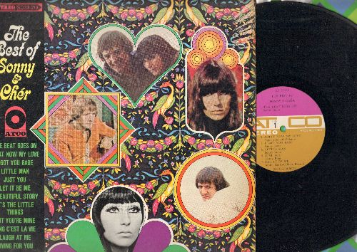 Sonny & Cher - The Best Of: I Got You Babe, The Beat Goes On, Let It Be Me, What Now My Love, Sing C'est La Vie (Vinyl STEREO LP record, purple/brown label early pressing) - EX8/EX8 - LP Records