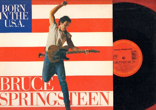 Springsteen, Bruce - Born In The U.S.A. (12 inch vinyl Maxi Single with 3 Extended Versions, with picture cover) - NM9/NM9 - LP Records