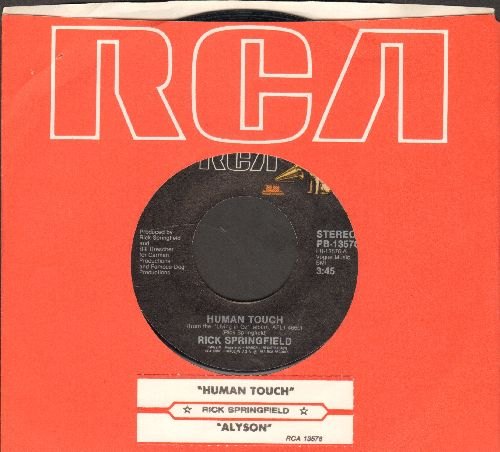 Springfield, Rick - Human Touch/Alyson (with juke box labeland RCA company sleeve) - EX8/ - 45 rpm Records