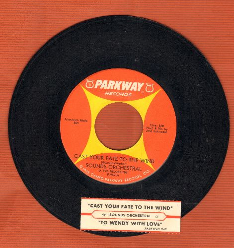 Sounds Orchestral - Cast Your Fate To The Wind (featured in various -Peanuts- cartoons)/To Wendy With Love (with juke box label) - NM9/ - 45 rpm Records