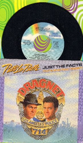 LaBelle, Patti - Just The Facts/Just The Facts (Instrumental) (from film -Dragnet-) (with picture sleeve) - NM9/ - 45 rpm Records