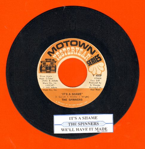 Spinners - It's A Shame/We'll Have It Made (double-hit re-issue with juke box label) - EX8/ - 45 rpm Records