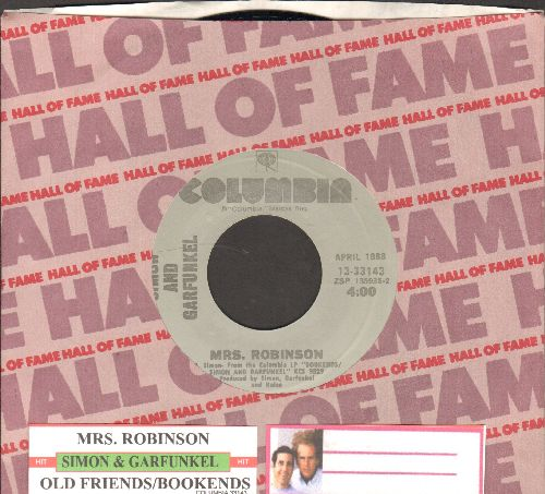 Simon & Garfunkel - Mrs. Robinson/Old Friends/Bookends (re-issue with Columbia company sleeve and juke box label) - NM9/ - 45 rpm Records