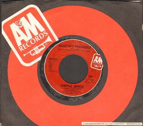 Simple Minds - Sanctify Yourself/Sanctify Yourself (Dub Version) (with A&M company sleeve) - NM9/ - 45 rpm Records