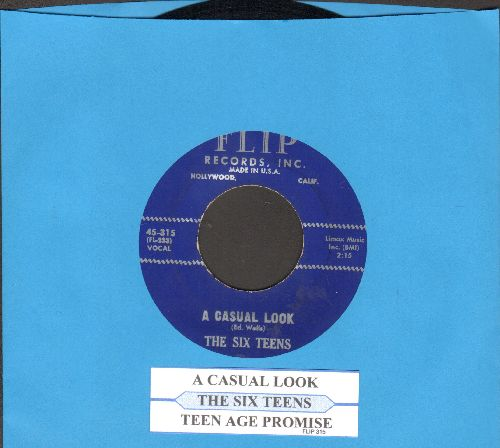 Six Teens - A Casual Look/Teen Age Promise (with juke box label) - NM9/ - 45 rpm Records