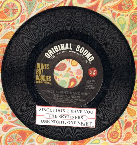 Skyliners - Since I Don't Have You/One Night, One Night (double-hit re-issue with juke box label)) - NM9/ - 45 rpm Records