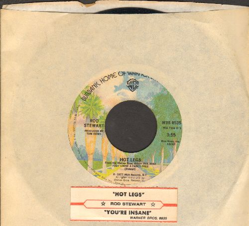 Stewart, Rod - Hot Legs/You're Insane (with company sleeve and juke box label) - NM9/ - 45 rpm Records