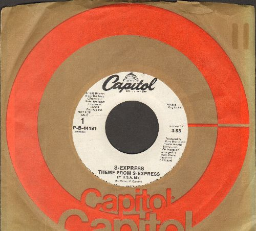 S-Express - Theme From S-Express (double-A-sided DJ advance pressing with Capitol company sleeve) - EX8/ - 45 rpm Records