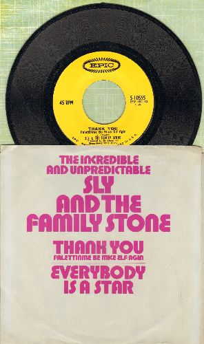 Sly & The Family Stone - Everybody Is A Star/Thank You (with picture sleeve) - NM9/NM9 - 45 rpm Records