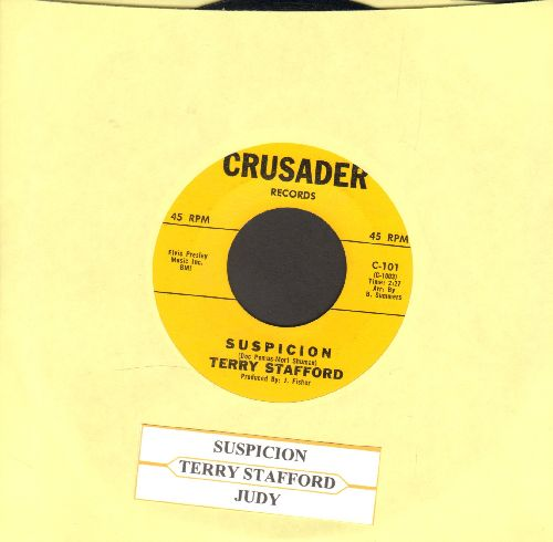 Stafford, Terry - Suspicion/Judy (Elvis Presley Sound-Alike!) (original first issue with juke box label) - NM9/ - 45 rpm Records