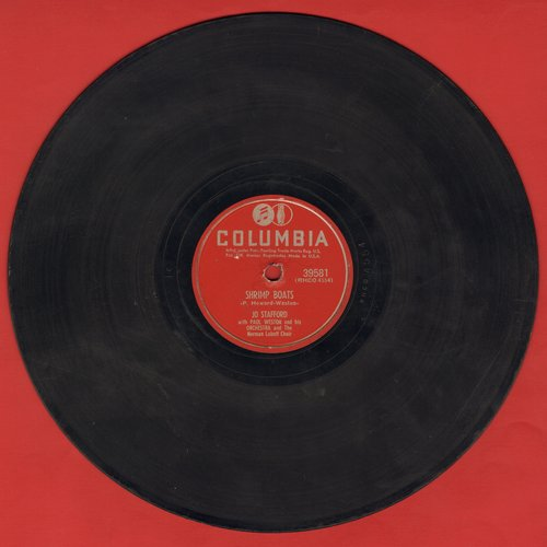 Stafford, Jo - Shrimp Boats/Love, Mystery And Adventure (10 inch 78 rpm record) - VG7/ - 78 rpm Records