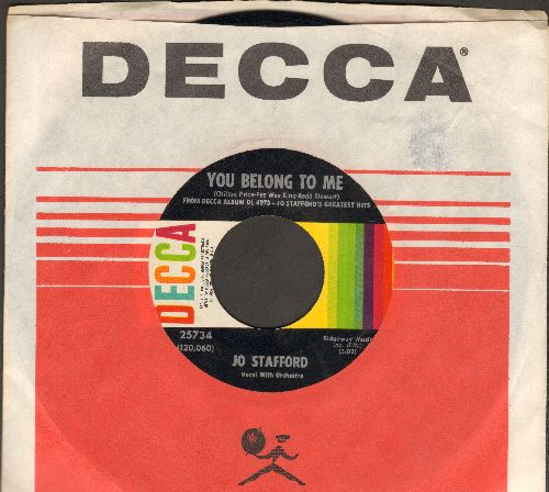 Stafford, Jo - You Belong To Me/St. Louis Blues (with vintage Decca company sleeve) - NM9/ - 45 rpm Records