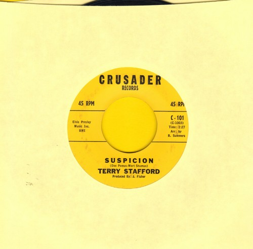 Stafford, Terry - Suspicion/Judy (Elvis Presley Sound-Alike!) (original first issue) - EX8/ - 45 rpm Records