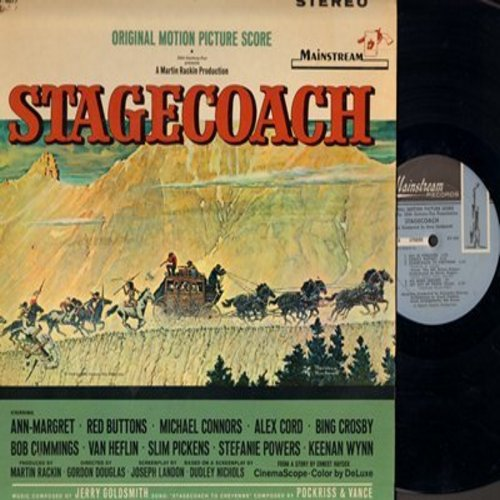 Goldsmith, Jerry - Stagecoach - Original Motion Picture Score, music composed by Jerry Goldsmith (Vinyl STEREO LP record) - NM9/NM9 - LP Records