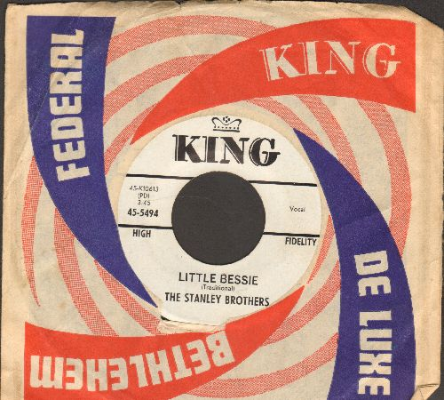 Stanley Brothers - Little Bessie/Village Church Yard (with vintage King company sleeve) - EX8/ - 45 rpm Records