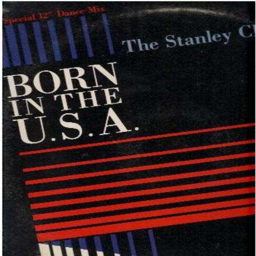 Clarke, Stanley Clarke - Born In The U.S.A. (Extended Rap Version of legendary Bruce Springsteen hit)/Born In The U.S.A (Edited Radio Rap-Version)/Campo Americano (12 inch vinyl maxi single - DJ copy) - NM9/VG7 - LP Records